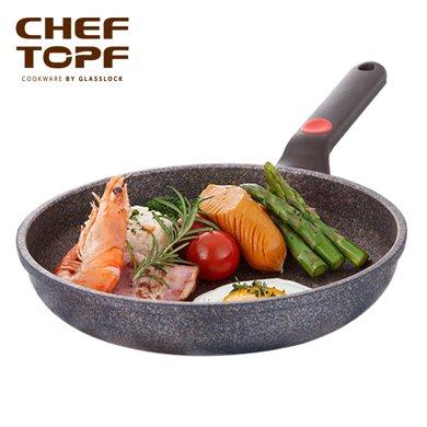 cheftopf韩国进口不钻锅少?#33073;?#24179;底锅煎锅?#23621;?#29006;牛排煎肉新品CAG-28F