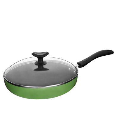 ASD/愛仕達不粘煎鍋無油煙平底鍋26cm不沾煎盤煎蛋煎牛排鍋燃電通V8126E