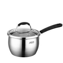 爱仕达ASD不锈钢可视盖奶锅   加厚三层复底奶锅煮奶锅   VS1916