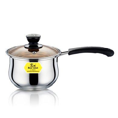 窩蜂加厚底單柄蘋果奶鍋迷你兒童奶鍋寶寶輔食鍋家用奶鍋