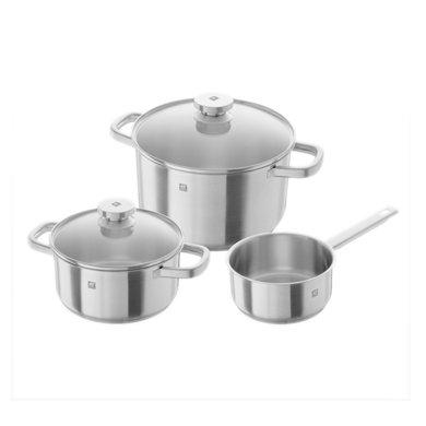 【直降400】ZWILLING 雙立人 Joy系列不銹鋼3件套鍋(燉鍋+湯鍋+奶鍋)