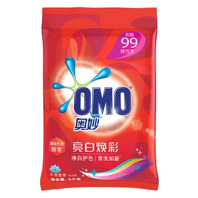奧妙亮白煥彩洗衣粉(水清蓮香)(3kg)