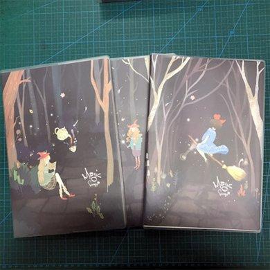 晨光筆記本文具B5創意大膠套本辦公厚記事本學習用品1本裝(魔幻森林系列APYSLB74)