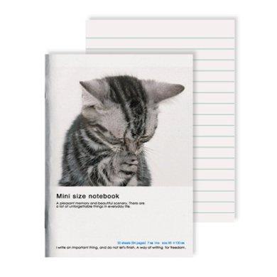 上品汇清新波点笔记本可爱动物软面本学生作业本子办公便携记事本