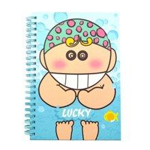 上品汇可爱卡通B6厚线圈本彩色内页小学生笔记本日记本