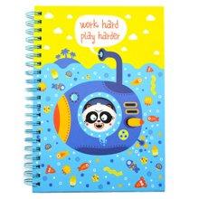 買三送一上品匯海洋主題彩頁可愛卡通B6線圈本小學生日記本筆記本