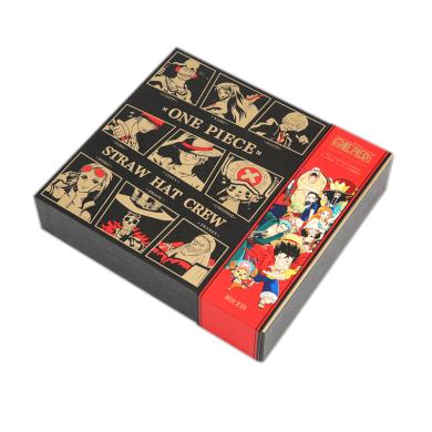 晨光海賊王航海王文具套裝禮盒學生禮包黑金系列手帳本筆記本獎品學習用品禮物筆袋速干簽字筆?HQGP0996