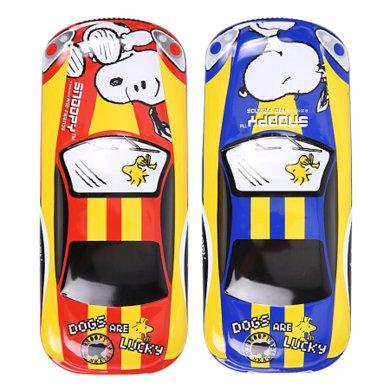 晨光 筆盒男女學生用卡通汽車造型多功能雙層鐵皮文具盒SSB90245