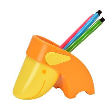 上品匯創意山羊筆筒兒童小學生可愛塑料迷你小筆筒時尚文具裝筆筒