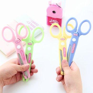 晨光剪刀儿童手工安全剪纸刀裁纸刀圆形钝角不伤手 DIY剪刀FSS91302