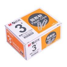 晨光文具回形针办公用3号金属纸盒装ABS91696