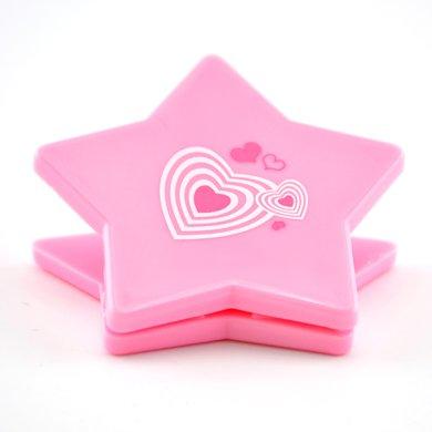 上品匯五角星夾子票據夾可愛彩色夾子學生辦公塑料夾書夾彈簧夾子