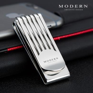 德國MODERN三位一體錢夾不銹鋼錢夾創意金屬錢夾男卡夾時尚潮