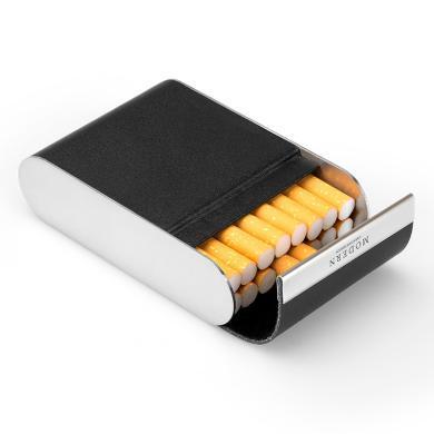 德國Modern真皮煙盒超薄 創意香菸盒套不銹鋼個性煙具送男友潮
