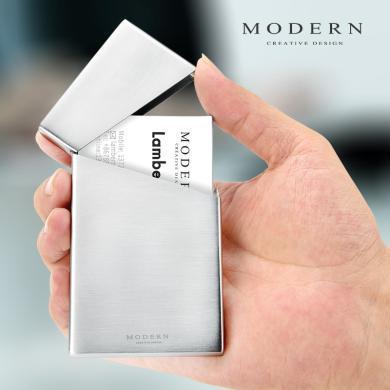 德國MODERN不銹鋼名片夾男士商務卡盒卡包超薄小巧卡片盒信用卡盒