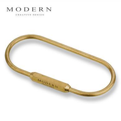 Modern黄铜钥匙扣 创意?#20449;?#27773;车钥匙扣 钥匙圈大环 钥匙扣大容量
