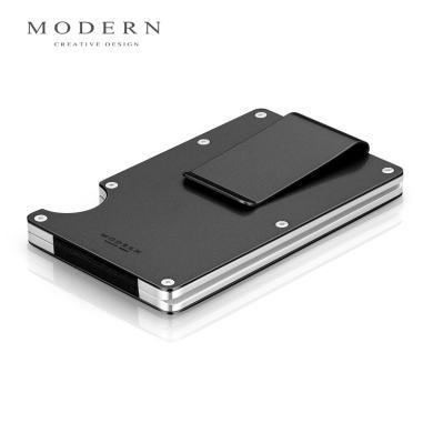 德國MODERN黑科技錢夾防盜刷防消磁金屬卡包NFC卡套男超薄防RFID