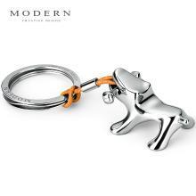德国MODERN不锈钢小狗钥匙扣创意汽车钥匙圈纯手工镜面抛光匠心