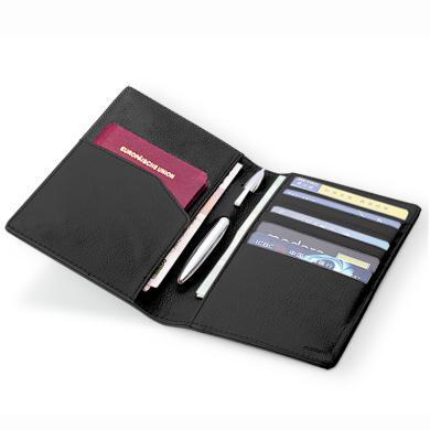 MODERN护照夹多功能证件包真皮护照包机票护照夹韩国送金属笔