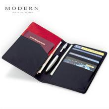 MODERN護照夾多功能證件包真皮護照包機票護照夾韓國送金屬筆