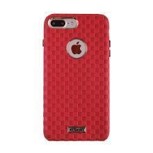 用維F-7蘋果iphone8手機殼PU防摔保護殼套全包邊防刮菱格紋4.7英寸硬殼