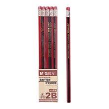 晨光文具 可削铅笔 六角2B 红黑抽条 木杆铅笔 儿童铅笔 AWP30804