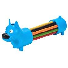 上品汇创意狗狗河马笔筒12色彩色铅笔收纳笔盒学生多功能新品包邮