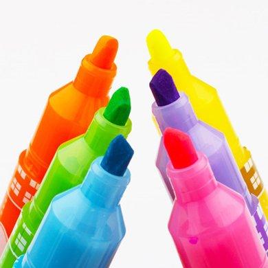 晨光荧光笔FHM21003学生用彩色做笔记标记糖果色记号笔粗划重点12支/6支/1支装 多规格可选