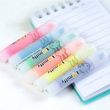晨光FHM22501彩色荧光笔 米菲六色荧光笔 醒目笔 标记笔套装