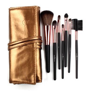 FOCALLURE菲鹿兒時尚個性化妝包化妝刷7支裝彩色禮盒18010金銅色