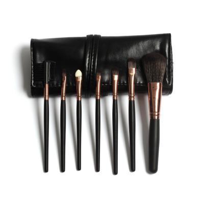 FOCALLURE菲鹿兒時尚個性化妝包化妝刷7支裝彩色禮盒18010黑色