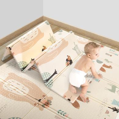 BibiLove拼接墊P15嬰兒爬行墊寶寶爬爬墊加厚客廳XPE可折疊兒童無毒地墊子