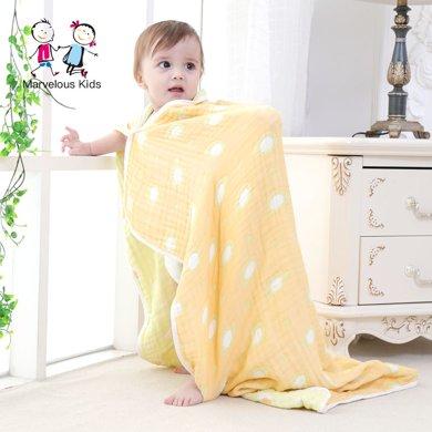 妈唯乐 Marvelous kids宝宝纯棉纱布洗澡巾盖毯婴儿吸水浴巾