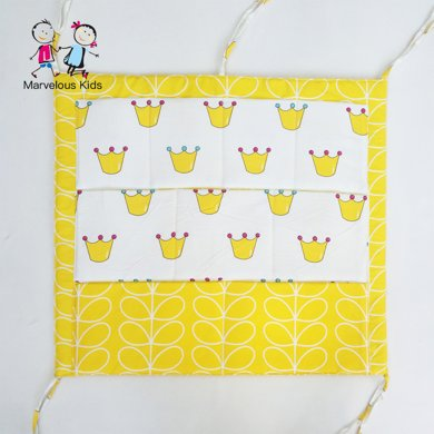 【周年慶嗨購 99選3】Marvelous Kids 多層純棉嬰兒床收納袋 卡通多功能床頭寶寶尿布儲物袋