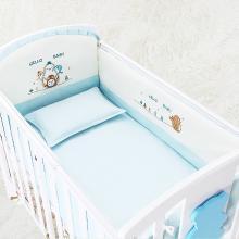 嬰兒床床品五套件純棉可拆洗寶寶床圍嬰兒床上用品五件套防撞床品