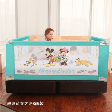 美國Disney迪士尼床護欄升降A款 垂直升降款床護欄兒童床圍欄嬰兒防摔掉床邊擋板 厚薄床墊通用 垂直升降(單面裝)