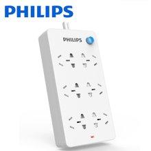 飛利浦(PHILIPS)插排5米插線板 6孔位插座/接線板/拖線板/排插/電插板 新國標兒童安全插座SPS6050B/93