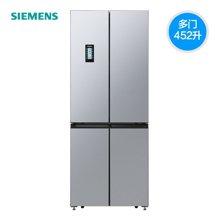 西门子(SIEMENS) 冰箱 BCD-452W(KM46FA90TI) 452升L变频 多门冰箱(欧若拉银) 四门无霜冰箱