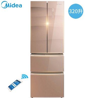 Midea/美的 BCD-320WGPZM �冰箱四�T家用��l智能�L冷�o霜多�T