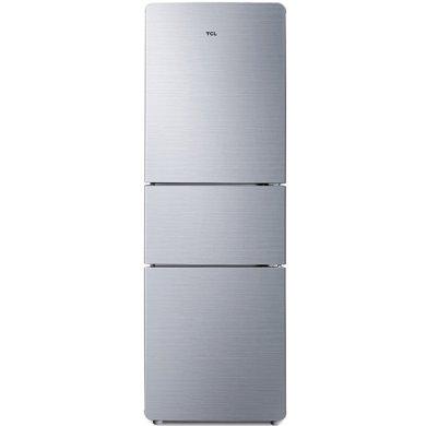TCL 205升 三门电冰箱 中门宽幅变温 软冷?#33251;?#20999;即用 节能养鲜HIPS环保内胆(星空银) BCD-205TF1