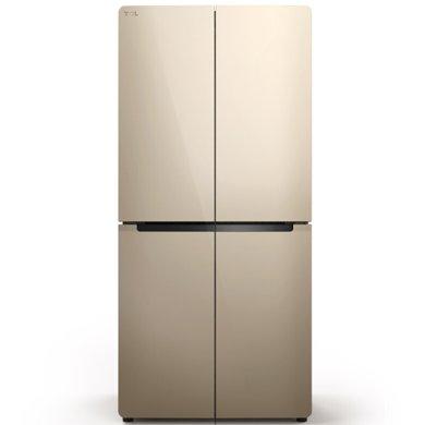 TCL 456升 十字對開多門電冰箱 冷藏自除霜 電腦控溫 一體照明 魔幻空間 (流光金) BCD-456KZ50