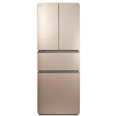 TCL 282升 冷藏自動除霜 電腦溫控 法式多門冰箱(流光金) BCD-282KR50