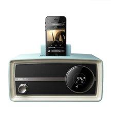飞利浦(PHILIPS)ORD2105 迷你音响复古收音机 苹果iphone6S/6Plus/5/ipod充电器 音乐底座音箱 蓝色
