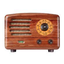 猫王收音机 猫王2 R602典藏级 复古原木收音机 蓝牙音箱 家用FM调频音响 胡桃木版