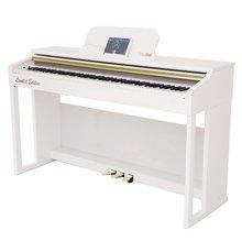 专柜同款 达宝恩 The ONE智能钢琴乐器 数码电钢琴 升级版烤漆版 重锤88键成年人儿童 多功能全键盘 白色