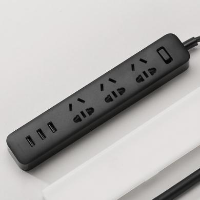 小米(MI )插线板智能快充插座插排多功能家用过载保护电源多孔usb接线板
