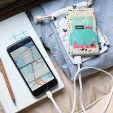 冇心圖拉星球創意聚合物移動電源手機充電寶 新款 8000毫安