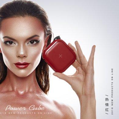 MIPOW迷你雙充iPhone8無線充電器+充電寶10000毫安 紅白
