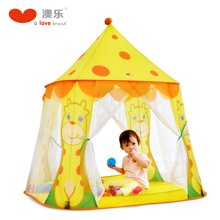澳樂 城堡帳篷之鹿小寶可折疊游戲屋室內外帳篷玩具1-2周歲游樂場