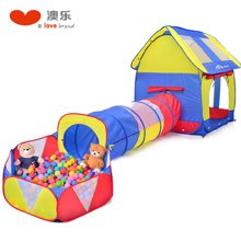 澳乐 宝宝帐篷隧道筒装儿童帐篷玩具屋室内外游戏屋1-2-3岁玩具